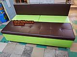 Диван для вузької кухні, коридору з ящиком + спальним місцем 1800х600х850мм, фото 5