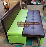 Диван для вузької кухні, коридору з ящиком + спальним місцем 1800х600х850мм, фото 6