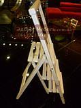 Дерев'яна драбинка з ручкою маленька і велика від виробника, фото 3