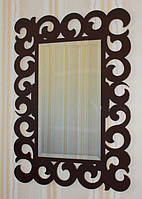 Зеркало декоративное прямоугольное, шок.-коричневое, фото 1