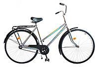 "Велосипед 28"" УКРАИНА LUX, модель 65 ХВЗ Серебристый"