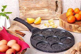 Cковорода для оладьев / панкейков Edenberg с антипригарным мраморным покрытием 27 см (EB-7511)