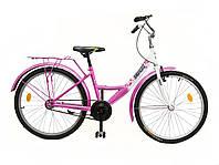 """Велосипед подростковый 24"""" ХВЗ  01-2 CZ бело-розовый (чешская втулка)"""