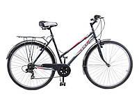 """Велосипед 28"""" ХВЗ ТУРИСТ 286W открытая рама, 6 скоростей, сталь"""