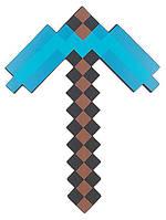 Пиксельная Алмазная кирка Майнкрафт (Minecraft) 45 см
