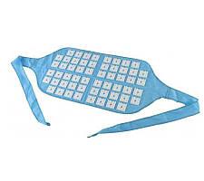 Игольчатый аппликатор Кузнецова для спины и поясницы Голубой, игольчатый массажер | аплікатор Кузнєцова (ST)