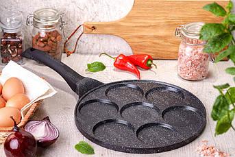 Cковорода для оладьев / панкейков Edenberg с антипригарным мраморным покрытием 27 см (EB-7512)