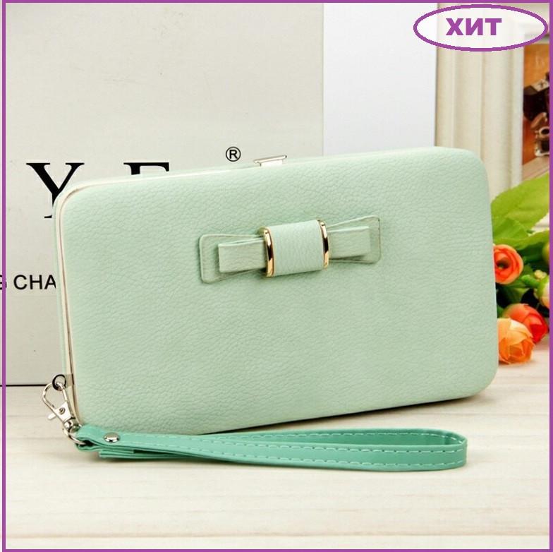 Модний жіночий гаманець клатч, Жіноче портмоне з відділенням для телефону, Гаманець для жінки