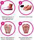 Носочки для педикюра Sosu Роза, 1 пара, носочки для пилинга в домашних условиях  шкарпетки для педикюру (ST), фото 6