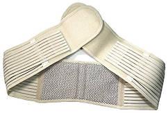 Пояс для поясницы. Используется и как,пояс для поддержки спины.Турмалиновый, бежевый.До 110 см. (ST)