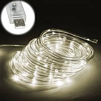 Уличная светодиодная ЛЕД Гирлянда наружная на елку (теплый белый, дюралайт, 100 LED, 9 м, прозрачная) (NV), фото 1