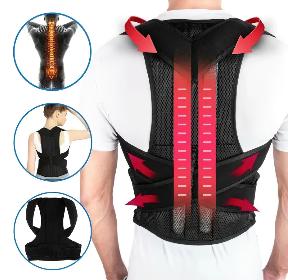 Ортопедический корсет для коррекции осанки Back Pain Help Support Belt корректор Размер XXL (ST)