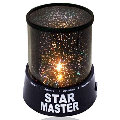 Проектор зоряного неба Star Master (Чорний) нічник-світильник дитячий зоряне небо (ночник детский