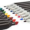 Набір скетч маркерів для малювання Touch Coco 24 шт./уп. (чорний корпус) двосторонні фломастери для скетчів