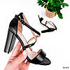 Босоножки женские Silvia черные 3884 кожа, фото 7