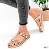 Шлепки женские Jessica золото 3877, фото 5