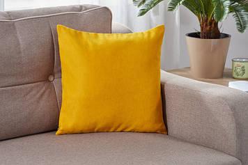 Подушка декоративна жовтого кольору