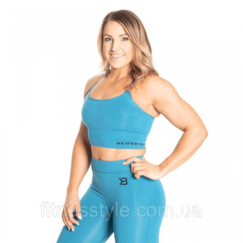 Спортивний топ Better Bodies Astoria seamless bra, Dark Turquoise