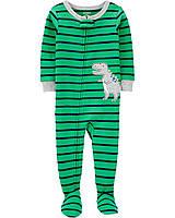 Хлопковый человечек пижама поддева слип для мальчика Carters Динозавр