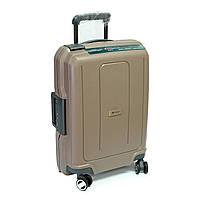 Пластиковый чемодан малого размера Airtex 40 л бежевый, фото 1