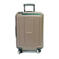 Стильный чемодан из полипропилена Франция Airtex малый на защелках  40 л бежевый, фото 1