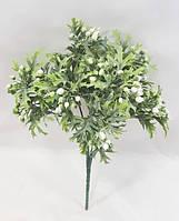 Белая брусника 30см искусственный ягодный куст