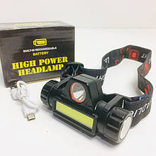 Налобный фонарь аккумуляторный BL 8101 XPE+COB (240 шт/ящ)