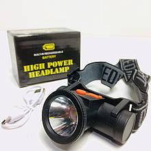 Налобный фонарь аккумуляторный BL 102 (240 шт/ящ)