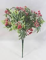 Красная брусники 30см искусственный ягодный куст