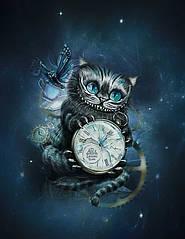 """Футер двунітка """"Чеширський кіт"""" купон 75х180см, діджитал, прихід 25.07 (попереднє замовлення)"""