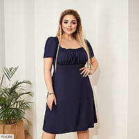 Легке літні плаття а-силуету до коліна розкльошені від грудей великі розміри 50-60 арт.545