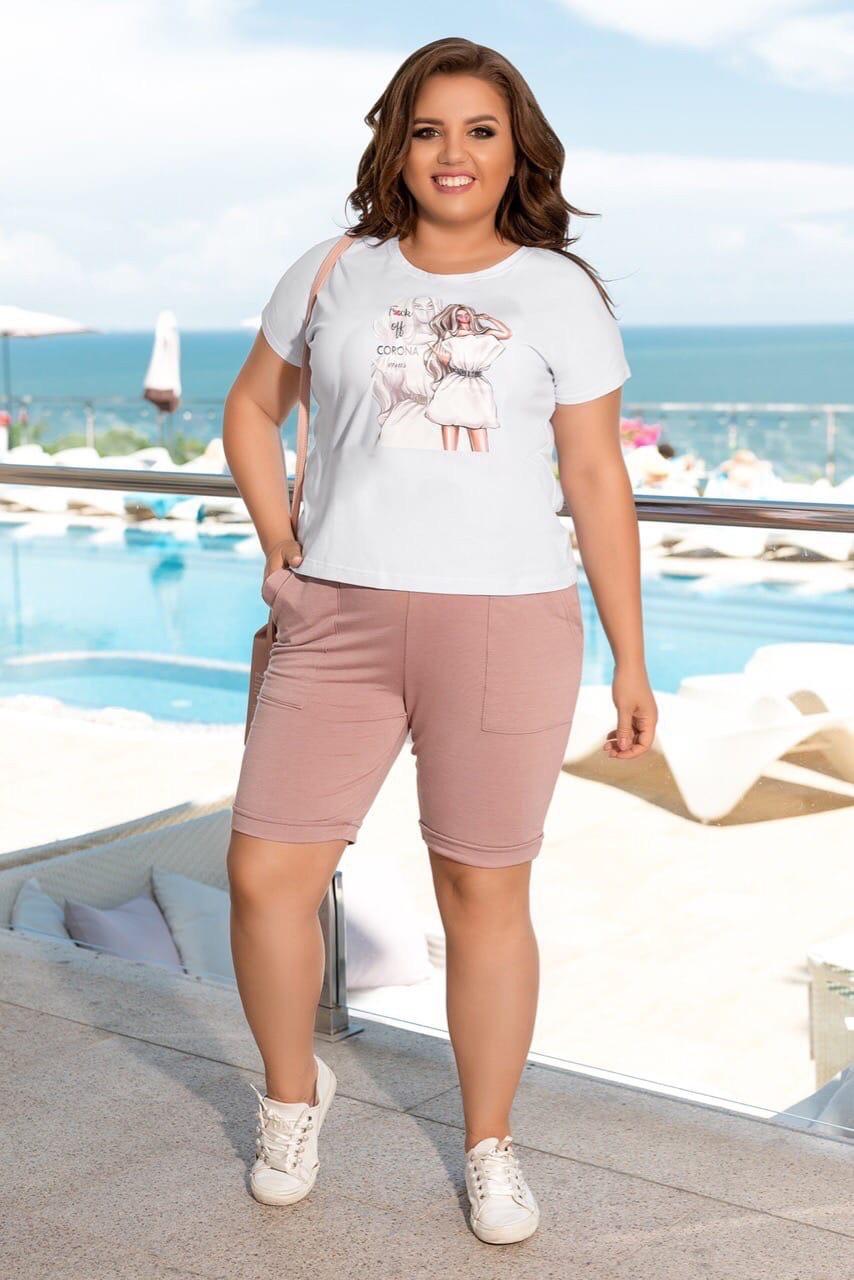 Літній костюм жіночий Турецька віскоза і двунітка Розмір 50 52 54 56 В наявності 3 кольори