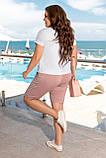 Літній костюм жіночий Турецька віскоза і двунітка Розмір 50 52 54 56 В наявності 3 кольори, фото 3