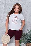 Літній костюм жіночий Турецька віскоза і двунітка Розмір 50 52 54 56 В наявності 3 кольори, фото 4