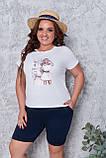 Літній костюм жіночий Турецька віскоза і двунітка Розмір 50 52 54 56 В наявності 3 кольори, фото 8