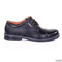 Мужские кожаные туфли City USA black