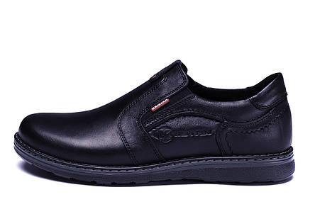 Чоловічі шкіряні туфлі Kristan black old school, фото 2