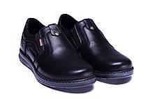 Чоловічі шкіряні туфлі Kristan black old school, фото 3