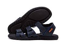 Чоловічі шкіряні сандалі Nike ACG Blue (репліка), фото 3