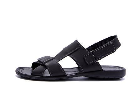 Чоловічі шкіряні сандалі CARDIO Black, фото 2