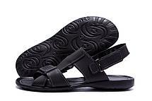 Чоловічі шкіряні сандалі CARDIO Black, фото 3