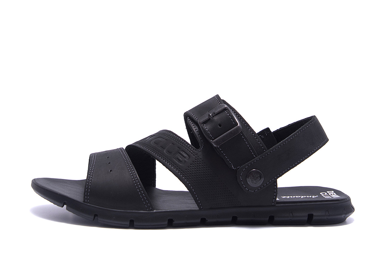 Чоловічі шкіряні сандалі AND Black Denim