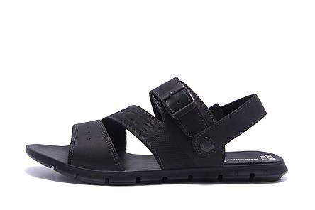 Чоловічі шкіряні сандалі AND Black Denim, фото 2