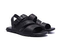Чоловічі шкіряні сандалі AND Black Denim, фото 3