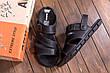 Чоловічі шкіряні сандалі AND Black Denim, фото 6
