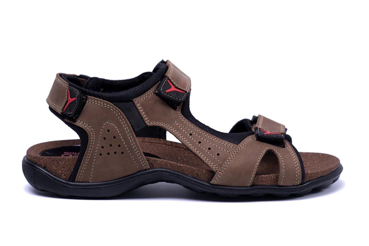 Мужские кожаные сандалии E-series Active Drive Olive (реплика)