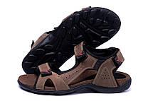 Мужские кожаные сандалии E-series Active Drive Olive (реплика), фото 3