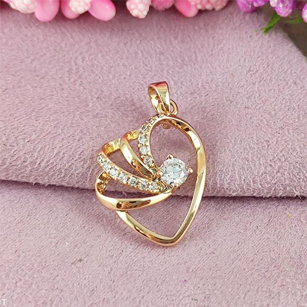 Кулон Xuping медичне золото позолота 18К А/В 5-0168