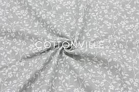 Муслін Квіточки сірий 160 см