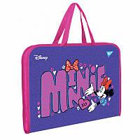 "Тека-портфель А4 на блискавці з текстильними ручками YES ""Minnie Mouse"""